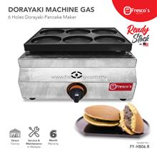 Gas Powered Dorayaki Waffle Maker Six Holes