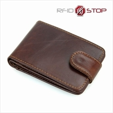 Anti-Theft RFID NFC Scan Block Card Holder Leather Wallet
