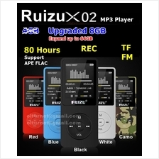 8GB Ruizu X02 X08 MP3 MP4 Player Voice Recording FM Radio Video Ebook