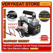 150 PSI 2 Cylinder Car Air Pump Compressor Tire Tyre Electric Inflator