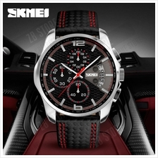 SKMEI 9106 New Luxury Quartz Watch Men Outdoor Sports Chrono Leather