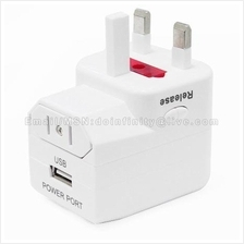 Universal World Travel Plugs Adapter with USB Power Port Indicator LED