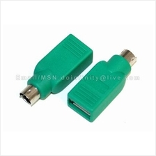 USB Female to PS2 PS/2 Mouse Keyboard Adapter Converter PC Notebook