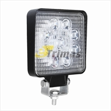 9 LED Square Work Lamp Off-Road Flood Sport Light Boat Tractor Truck