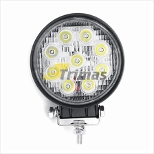 9 LED Round Work Spot Lamp Off Road Spotlight Boat Tractor 4WD 4x4