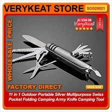 11 in 1 Outdoor Multipurpose Swiss Pocket Folding Camping Knife