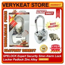 3.5A Anti Theft SPELOCK KINBAR Alarm Lock Locker Padlock Zinc Alloy