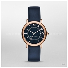 MARC BY MARC JACOBS MJ1539 Classic Small 3-hand Leather Strap Navy