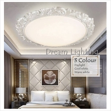 3 Colour LED 24w Round Classic Cozy Creative Living Room Bedroom F