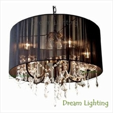 Dream Lighting Candle Crystal Chandelier Pendant Lights(Black)