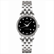 MIDO M7600.4.68.1 BARONCELLI II Lady Automatic diamonds bracelet black