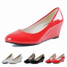 MT018919 Simple Elegant Ladies Formal Wear Comfy Round-toe Patent High Heeled