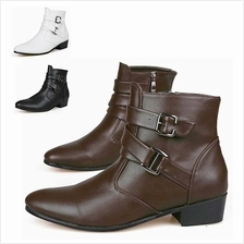 MT008845 Korean Men 's Pointed High-Heeled Boots Shoe