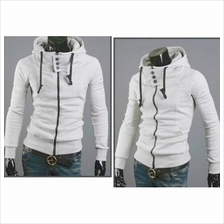 MT059426 Korean Casual Solid Color Hooded Cardigan Sweater Coat Jacket