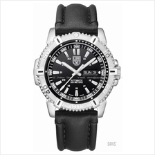 LUMINOX 6501 Modern Mariner Auto black black leather strap day-date