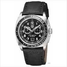 LUMINOX 9441 P-38 Lightning Chrono black leather strap