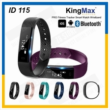 KingMax ID115 PRO Fitness Tracker Smart Watch Wristband Android iOS