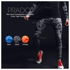 PRADO Men Sport Compression Long Pants Under Tight Fitness GYM MA48