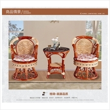 541982014714 Natural crystal rattan 3 piece set