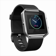 Fitbit Blaze Smart Fitness Watch - Black Silver (Large - FB502SBKL)