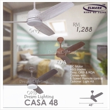 CASA48 48-Inch 3-Blade 6Speed Remote Ceiling Fan (DC Motor)