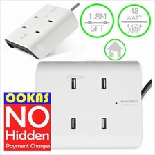 Budi High Power 9.6A 48W USB Home Charger With UK Plug M8J027U