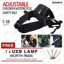 Children Motorcycle Adjustable Safety Seat Strap Belt Kids 1-18Years