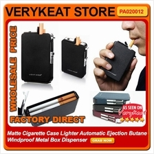 Cigarette Case Lighter Automatic Ejection Butane Windproof Metal Box
