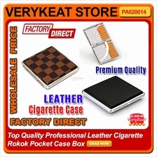 Top Quality Professional Leather Cigarette Rokok Pocket Case Box