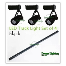 Set of 4 - 1 Meter Track Light with 3 LED Light - 7W COB Track Rail LED Light