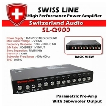 SWISS LINE SL-Q900 9 Band High Performance Power PreAmplifier Car Ampl