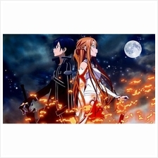 Card Game Playmat Sword Art Online SAO Kirito  & Asuna - MDLU