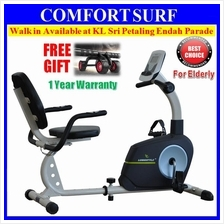 LongStyle Recumbent Fitness Stationary Exercise Bike Sensor Display