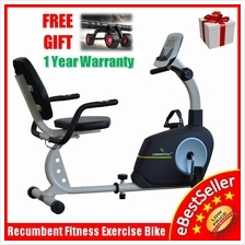 LongStyle Recumbent Fitness Exercise Bike Display + Heart Pulse Sensor