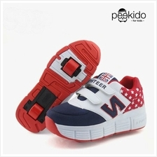 Sporty Blue N Red Stars Roller Shoes- Pre-Order 795f71dfbb