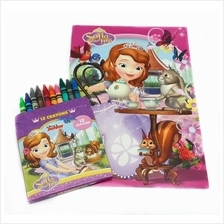 DISNEY SOFIA THE FIRST COLORING BOOK WITH CRAYON SET