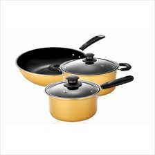 5pcs Nonstick Cookware Wok Frying Pan, Pot Induction Cookware