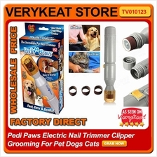 Pedi Paws Electric Nail Trimmer Clipper Grooming For Pet Dogs Cats