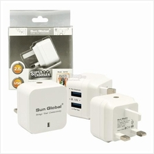 SGT05 SUN GLOBAL SUPER CHARGER Adapter 2.1A DUAL USB PORTS