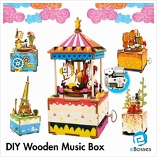 Creative DIY wooden music box Christmas Gift