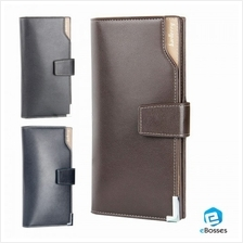 Men''s Black Casual Korean Long Paragraph Leather Wallet