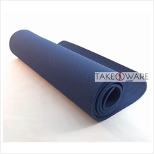 TPE Yoga Mat 183 x 61 cm Thickness : 6mm - Dark Blue