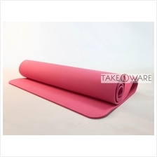 TPE Anti-Slip Yoga Mat Extended 183 x 80 cm Thickness : 8mm - Pink