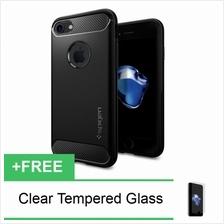 Spigen Rugged Armor iPhone 7 8  & Plus Carbon TPU Bumper Case Cover / Soft Cas