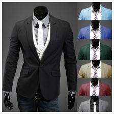 Mizora Men One Buckle Casual Suits Coat Jacket (5 Color) MT005126