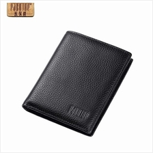 Pabojoe Men Premium Genuine Leather Short Wallet Driver License Holder