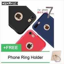 Cyclone Matte Opaque iPhone 7  & Plus Thin Slim Silicone Cap TPU Case Cover /