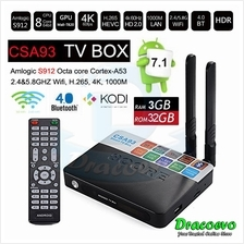 CSA93 TV BOX S912 3GB RAM 32GB Smart Android 7.1 Dual Antenna