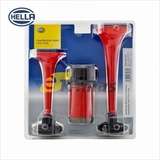 Hella Heavy Duty Car Lorry Truck Motor Dual Tone Trumpet Air Horn Kit 12V 24V