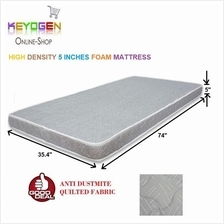 1 year warranty 5 inches single bed mattress - high density foam -